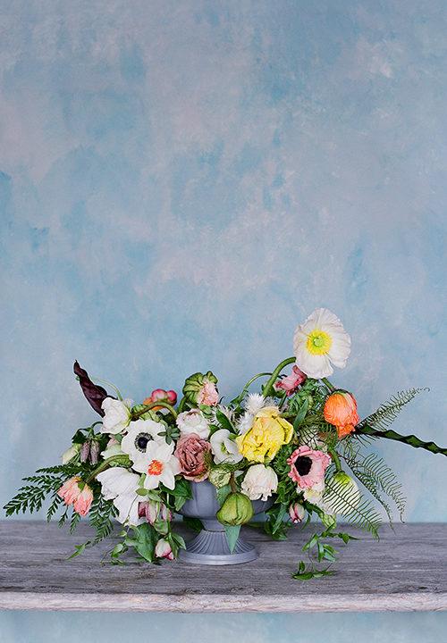 winterliches Blumen-Arrangement